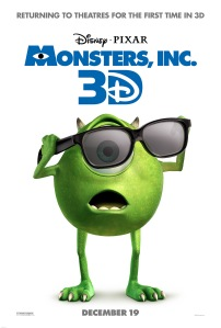 Catch Monster's Inc. 3D in theatres on December 19, 2012. Courtesy of DisneyPixar